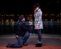 Surprise Engagement Shoot at City Center at Oyster Point