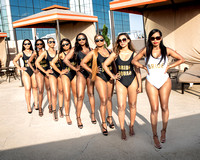 Bridal Party Swimsuit at Reunion Tower in Dallas